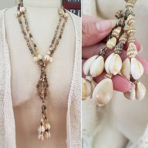 Jewelry - Long shell tassel necklace boho